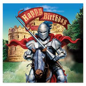 jousting knight happy birthday napkins king arthur party party ark