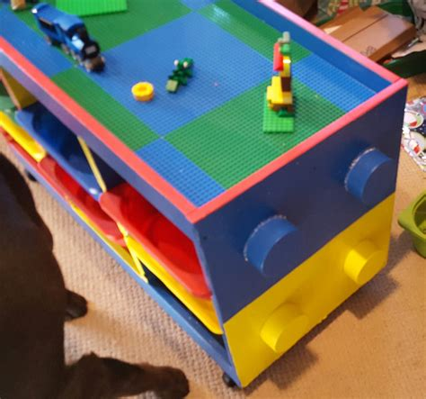 and lego table trofast to lego table in one weekend ikea hackers ikea