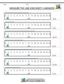 math worksheets for kindergarten measuring length
