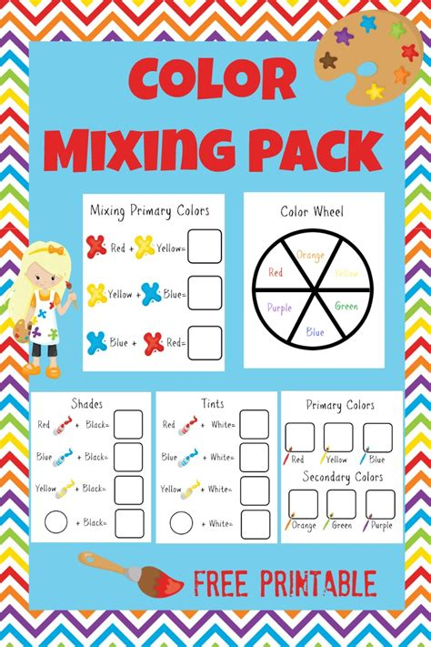 Fun Color Theory Activity Pack For Kids More Excellent Me Colour Activities For Preschoolers