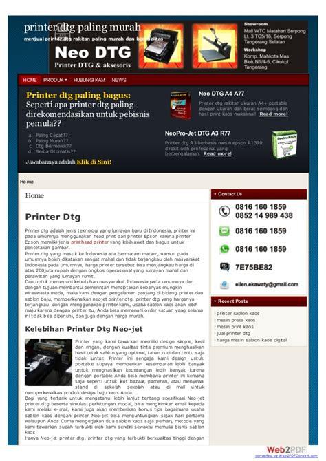 Printer Dtg Neojet mesin sablon printer dtg