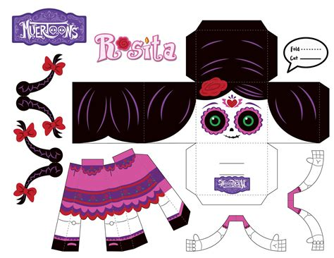 How To Make A 3d Paper Person - muertoons rosita 3d paper doll