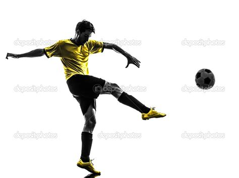 Kicking The the gallery for gt soccer kick silhouette