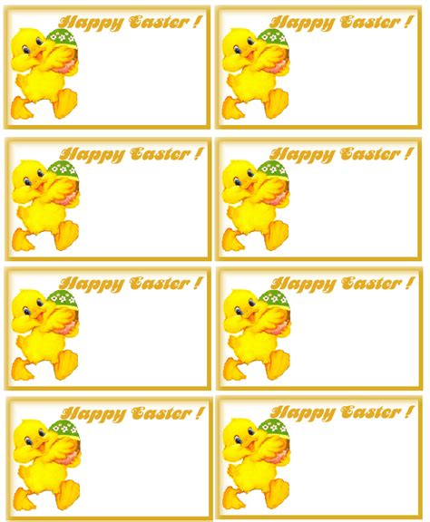 printable easter labels easter name tags printables pinterest