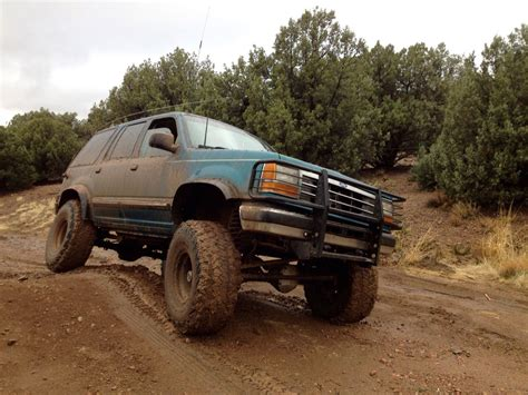 ford road parts custom lifted 94 ford explorer road truck classic