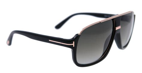 New Sungglases new tom ford sunglasses aviator tf 335 black 01p eliott 60mm ebay