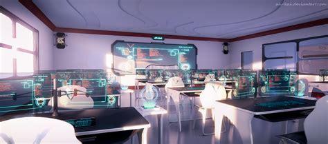 Outer Space Bedroom Ideas sci fi anime classroom by ah kai on deviantart
