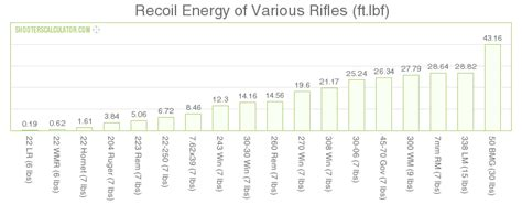 Rifle Recoil Table by New Ballistic Calculator Website