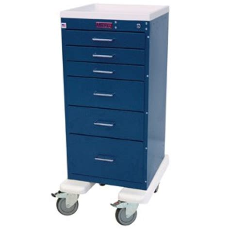 Drawer Cart With Wheels by Harloff Mini Line 6 Drawer Key Locking Cart 3256k 4md