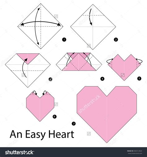 How To Fold Paper Hearts Step By Step - origami step by step how to make origami an