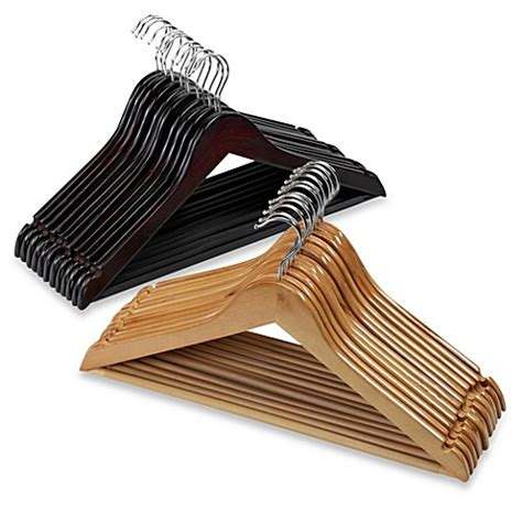 hangers bed bath and beyond 10 pack wood suit hangers bed bath beyond