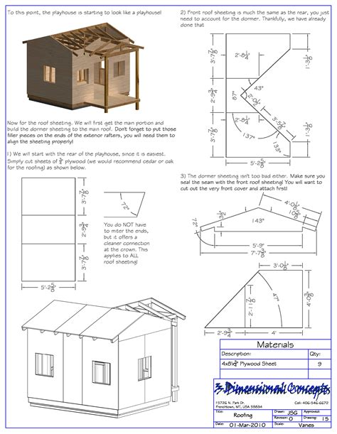 build blueprints affordable step by step playhouse plans ez playhouse