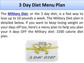 the 3 day military diet information and reviews