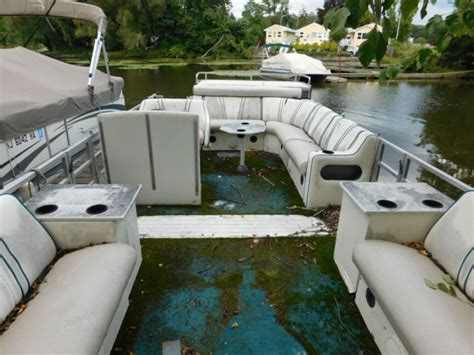 tritoon boats for sale in new york pontoon jc tritoon 226 for sale in greenwood lake new