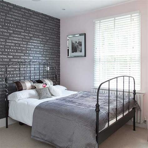 bedroom wall paper grey typographical wallpaper bedroom wallpaper ideas housetohome co uk