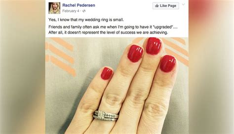 viral facebook post defends  small engagement ring