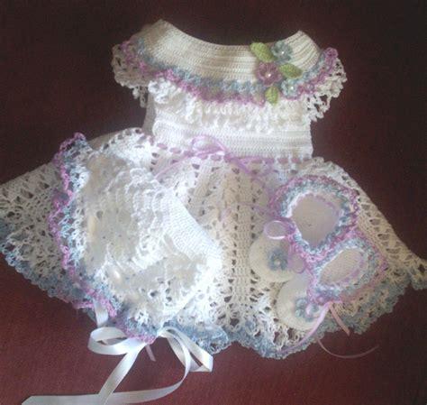 Pattern Free Crochet Baby Dress | thread crochet dress pattern crochet patterns