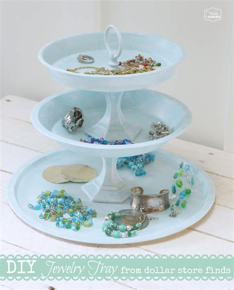 jewelry diy diy tiered jewelry tray from dollar store finds the