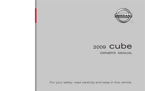 security system 2009 nissan cube user handbook 2009 cube owner s manual