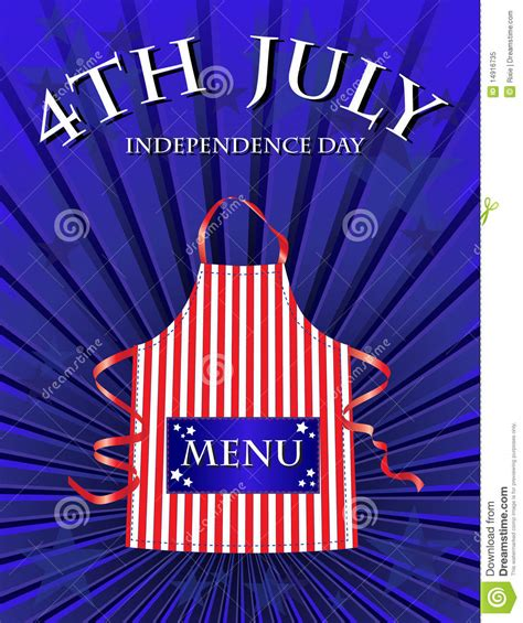 4th Of July Menu Template by 4th July Menu Royalty Free Stock Photo Image 14916735