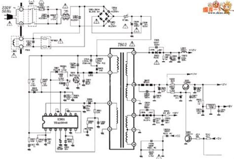 transistor power supply tv tcl 2188f tv power supply circuit diagram power supply circuit circuit diagram seekic