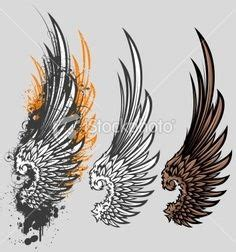 angel wings tattoo design my style pinterest