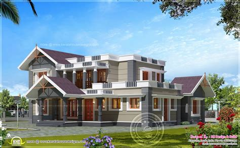 Sq In To Sq Ft 4 bhk house exterior design in 2600 sq feet home kerala