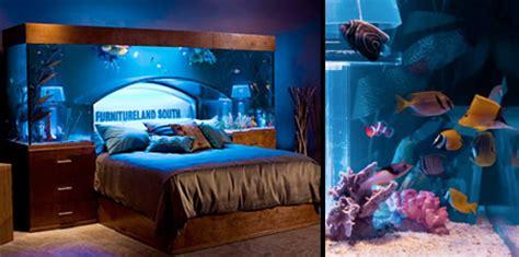 desain kamar tidur dengan interior aquarium desain rumah