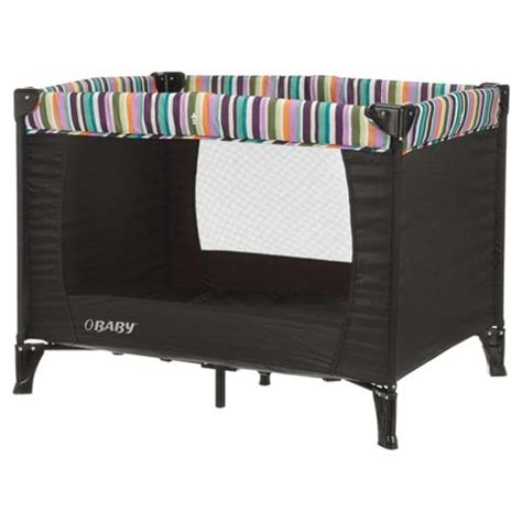Travel Cot Mattress Tesco by Buy Obaby Naptime Bassinette Travel Cot Black Stripe From