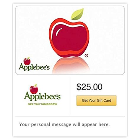 Apple Bees Gift Cards - applebee s gift cards e mail delivery