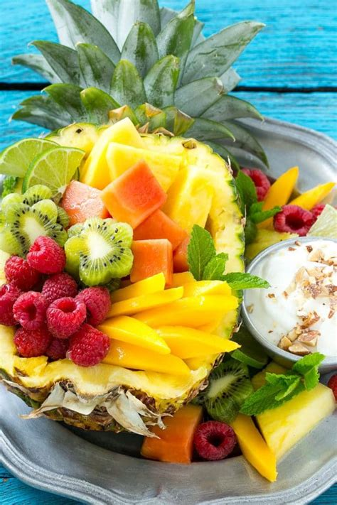 summertime tropical fruit salad recipe allrecipescom tropical fruit salad with coconut almond dip dinner at