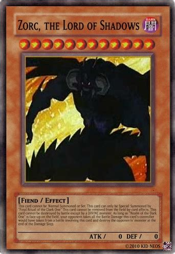 zorc, the lord of shadows | yu gi oh card maker wiki
