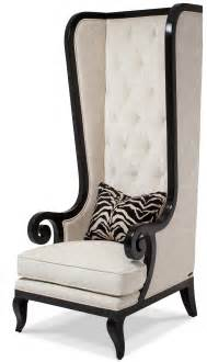 Chandelier Wall Sconce Lighting Aico Foxie High Back Chair Black Onyx Fs Foxie34 Oys 88