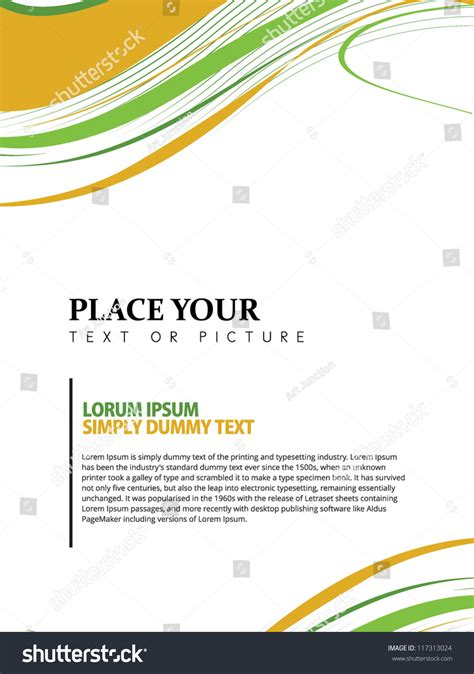 page layout design vector beautiful abstract flyer design cover page design