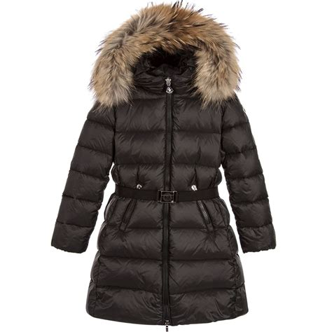 Comfort Bunny Moncler Girls Black Dorist Down Coat Childrensalon
