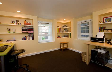 rec room sf albany basement recreation room home office traditional home office san francisco by