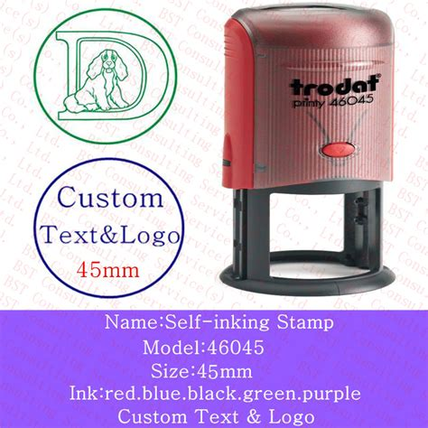 custom rubber ink sts free shipping custom logo sts self inking st