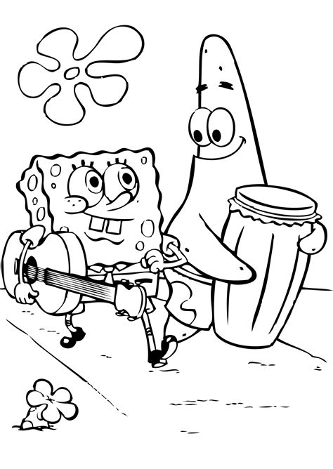 Spongebob Squarepants Coloring Pages Spongebob And Patrick Sponge Bob Square Coloring Pages