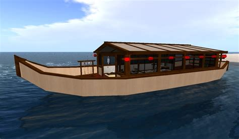 wooden boat japanese second life marketplace japanese boat rez c m