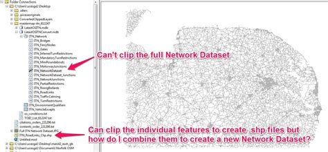 arcgis tutorial network dataset how to clip itn network dataset in arcgis geographic