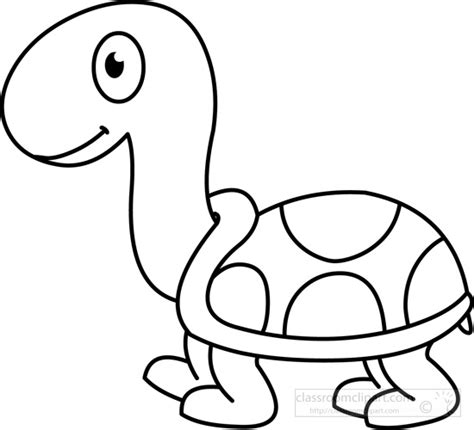Black And White Outline Of by Animals Clipart Turtle Black White Outline Classroom Clipart