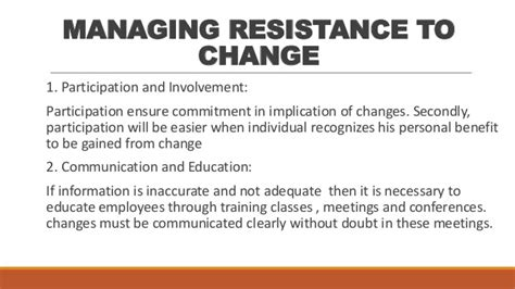 what are resistors to change managing resistance to change