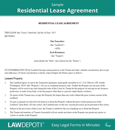 sle house lease agreement template residential lease agreement free rental lease form us