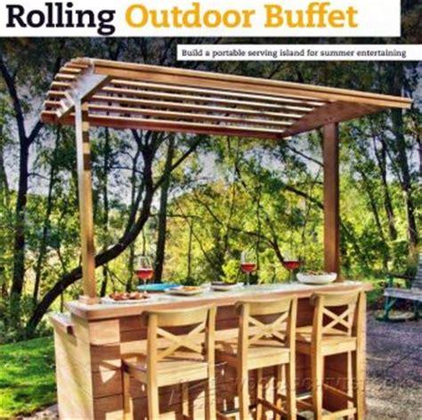 outdoor buffet table serving cart 1848 outdoor serving cart plans woodarchivist