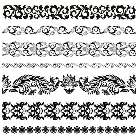 floral pattern frame vector floral border pattern flowers vector vintage ornamental