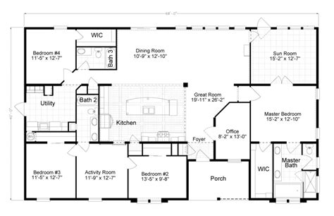 4 bedroom modular home floor plans the tradewinds is a beautiful 4 bedroom 2 bath triple