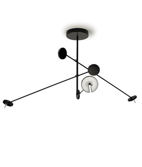 multi arm pendant light quirky led ceiling fixture with 3 counterbalanced dimmable