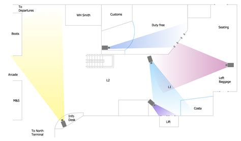Software To Make A Floor Plan security and access plans solution conceptdraw com