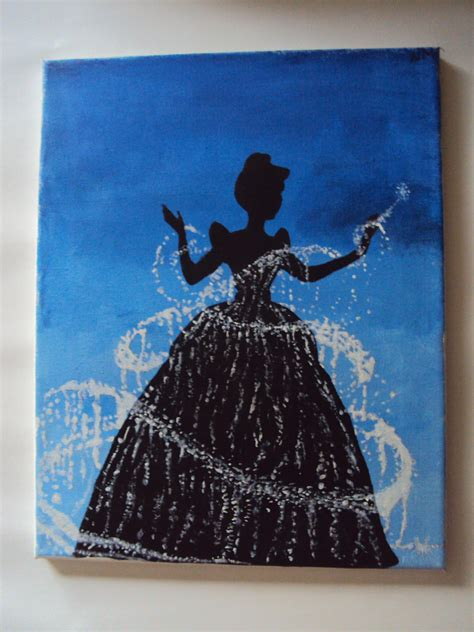 can you paint acrylic on canvas disney princess cinderella canvas acrylic by stardustcreationz