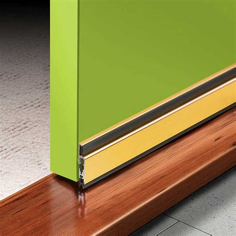 Door Bottom Seal by Rp60 Automatic Door Bottom Seal 915mm Anodised Gold